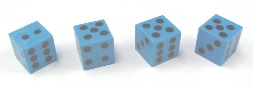 Blue Plastic Dice