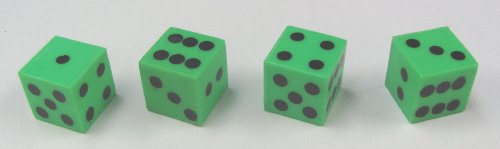 Green Plastic Dice
