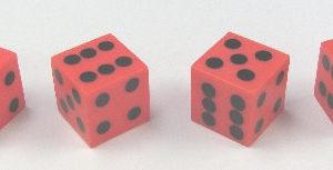 Red Plastic Dice