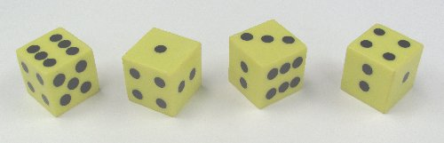 Yellow Plastic Dice