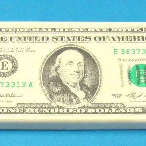 100 Dollar Bill Eraser