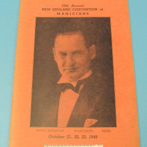 13th Annual New England Convention of Magician's Program Booklet 1949