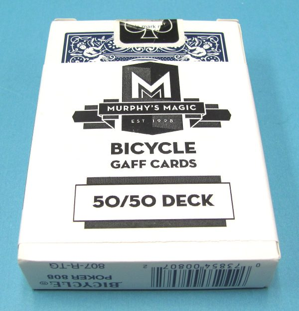 50-50 Force Deck Bicycle Blue Back 7 of Spades