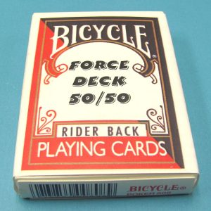 50-50 Force Deck Bicycle Red Back King of Clubs