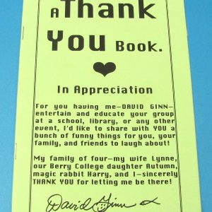 A Thank You Book (David Ginn)
