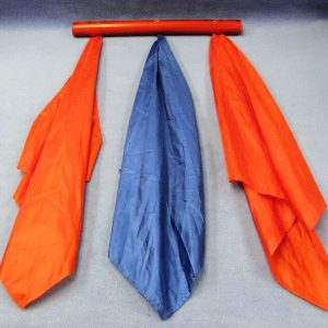Acrobatic Silks (Red Pole With Red and Blue Silks)