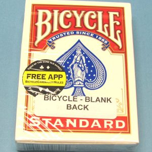 Blank Back Deck Bicycle Red Card Case