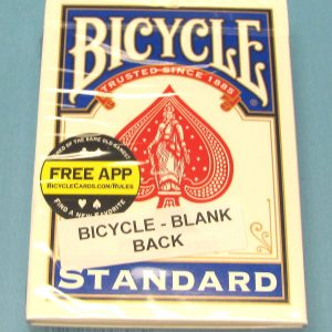 Blank Back Deck Bicycle Blue Case