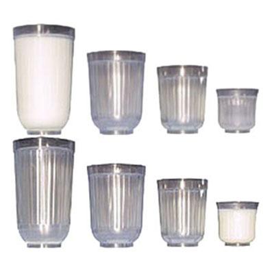 Diminishing Milk Glasses