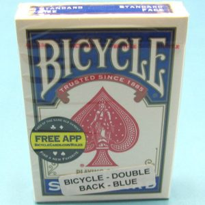 Double Back Deck Bicycle Blue Backs
