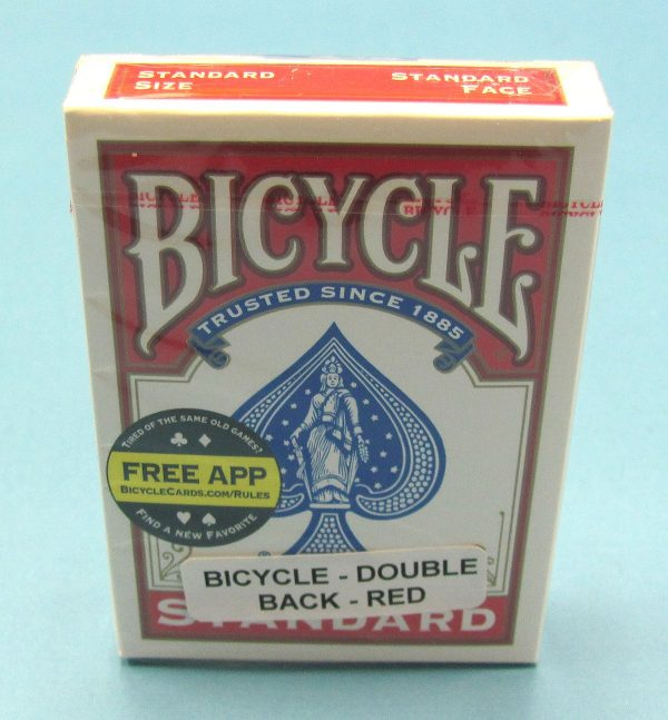 Double Back Deck Bicycle Red Backs