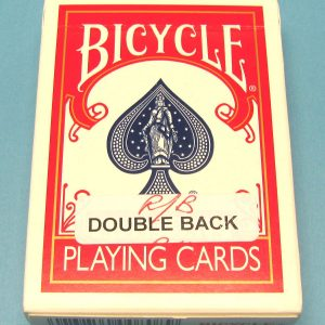 Double Back Deck Bicycle Red-Blue Backs