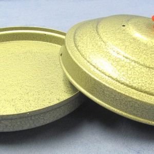 Dove Pan - Powder Coated Steel Gray Finish