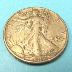 Folding Vintage Liberty Walking Half Dollar (1942)