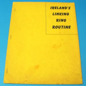 Ireland's Linking Ring Routine (Early Stapled Manuscript)
