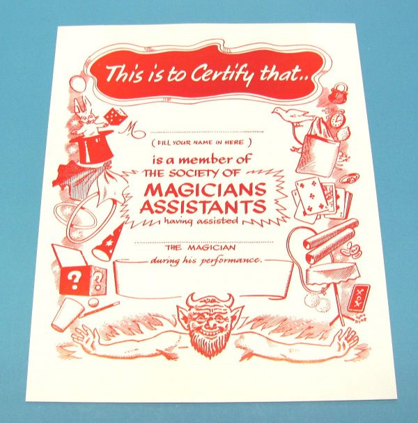 Magician's Assistant Certificate Wand