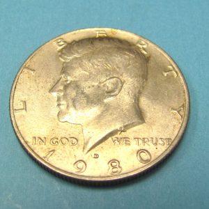 Magnetic Half Dollar 1980