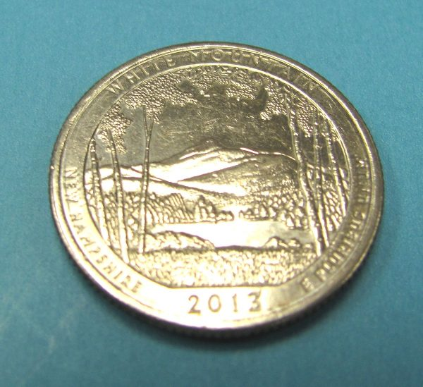 Magnetic State Quarter - New Hampshire 2013-2