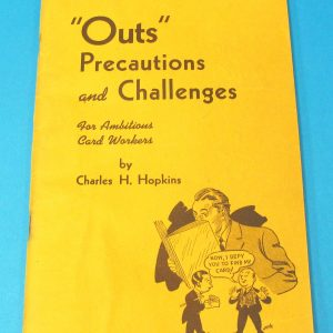 Out, Precautions and Challenges (First Edition) Signed by Jack Chanin
