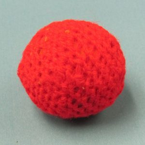 Red Handknit Ball 1 Inch (India)