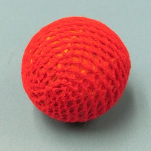 Red Handknit Ball 1.5 Inch (India)