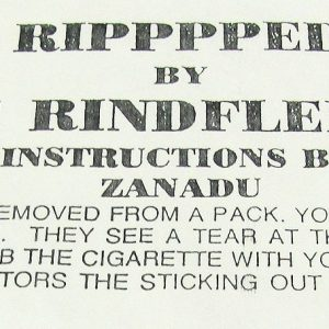 Ripppped Torn and Restored Cigarette