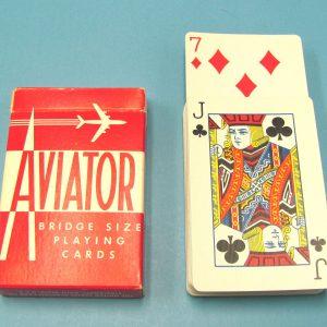 Rising Cards A. M. Y. Bridge Size Red Backs Aviator