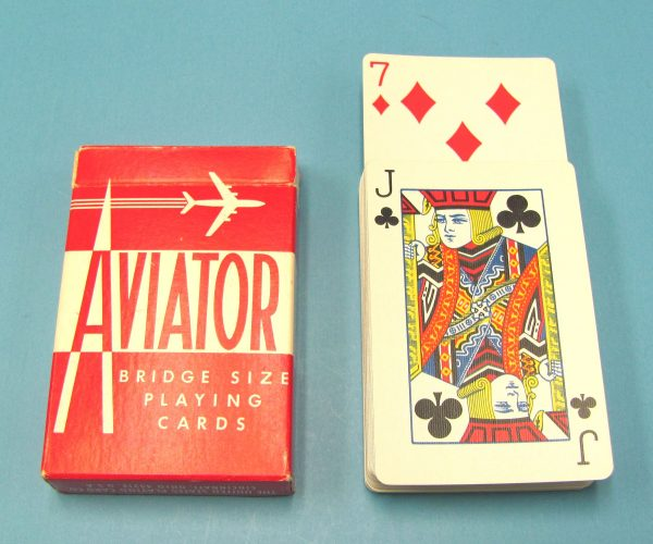 Rising Cards A. M. Y. Bridge Size Red Backs Aviator