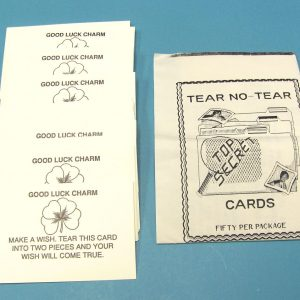 Tear No-Tear Cards (Good Luck Charm)
