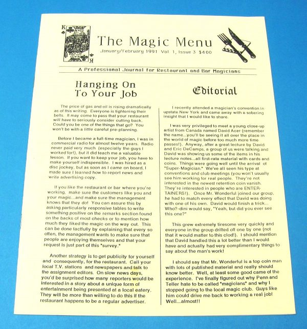The Magic Menu