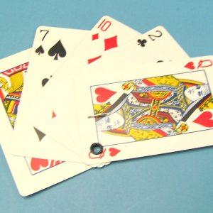 Vanishing Fan of Cards