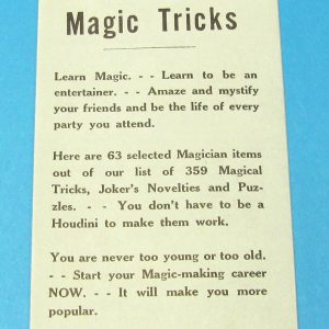 Vintage Dealer's Magic Tricks Ad Flyer (Dan Tsukalas)