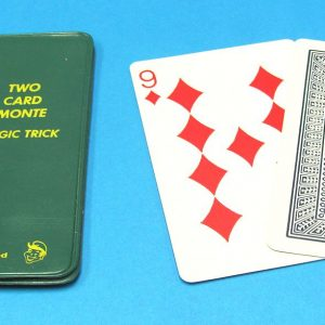 Vintage Royal Magic Two Card Monte With Green Holder