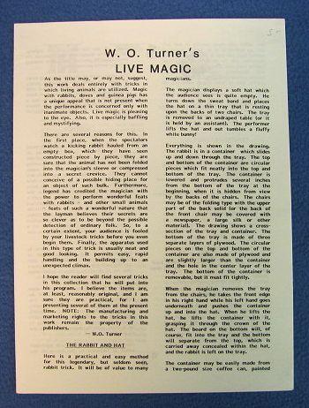 W. O. Turners Live Magic