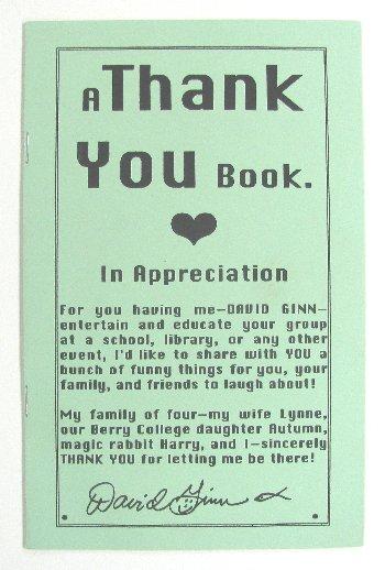 A Thank You Book - In Appreciation (David Ginn)