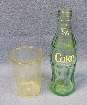 Airborne Glass and Coke Bottle