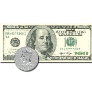 Jumbo Coin to 100 Dollar Bill