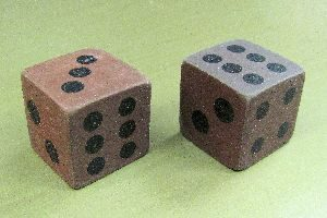 Rubber Dice - Brown - Pair