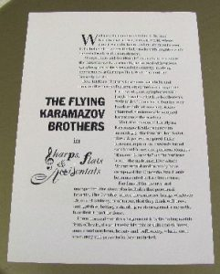 The Flying Karamazov Brothers Back Side