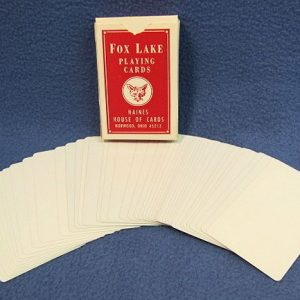 Double Blank Cards Fox Lake Red Case