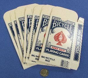 Jumbo Bicycle Card Cases - Blue - Lot of 7