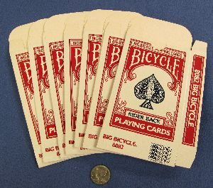 Jumbo Bicycle Card Cases - Red - Lot of 7