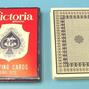 Jumbo Victoria Brand Playing Cards