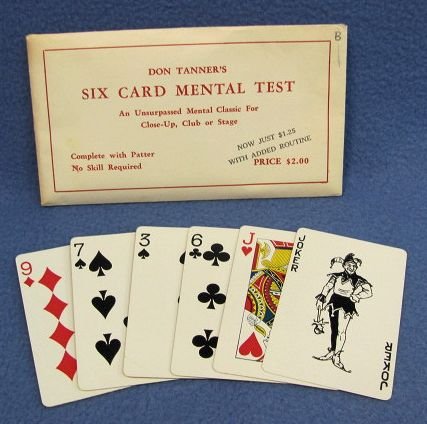 Six Card Mental Test Don Tanner