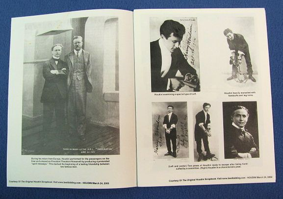 Houdini Auction Booklet March 24, 2000