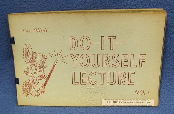 Ken Allen Lecture Number One
