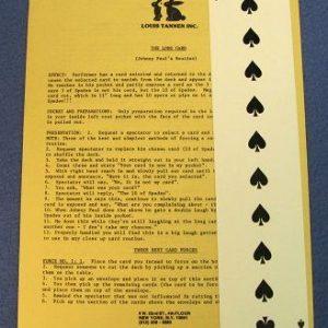 Long Card Louis Tannen