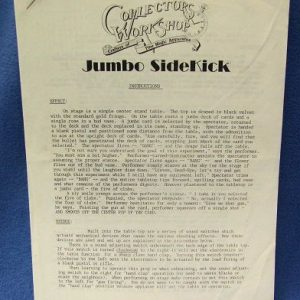 Jumbo Sidekick Instructions Collector's Workshop