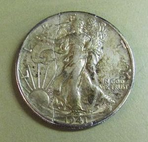 Vintage Walking Liberty Folding Half Dollar 1941
