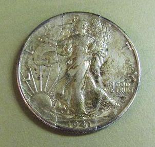 Vintage Walking Liberty Folding Half Dollar 1941